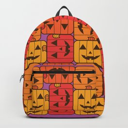 Jack o Lantern Pattern Warm tones Backpack