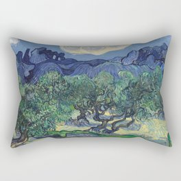 Vincent Van Gogh - The Olive Trees 1889 Rectangular Pillow