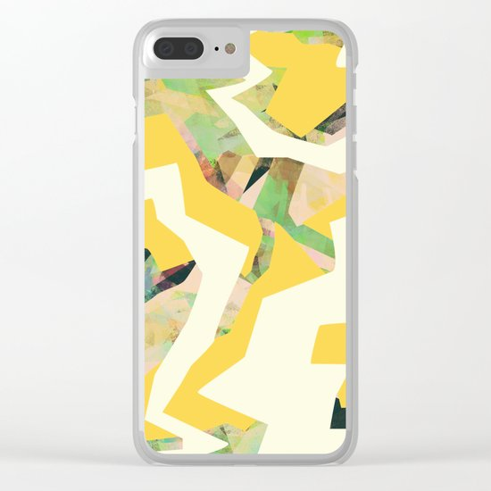 Camouflage XXXV Clear iPhone Case