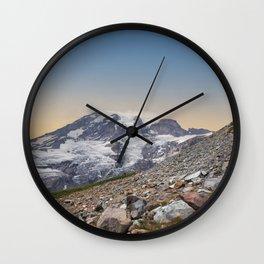 Rainier Sunrise Wall Clock