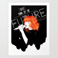 paramore Art Prints featuring Future by Julie Pond