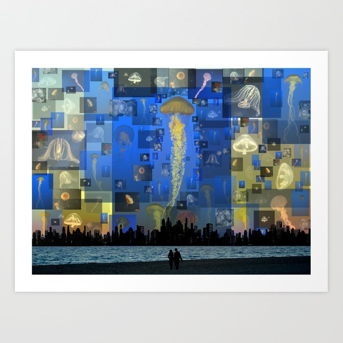 Our Jellyfish Sky Art Print