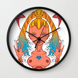 Queen of the water. Wall Clock