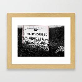 No vehicles sign Framed Art Print