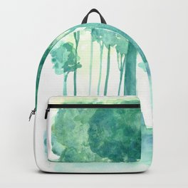 Rainy Woods Trees Forest Watercolor Painting Backpack