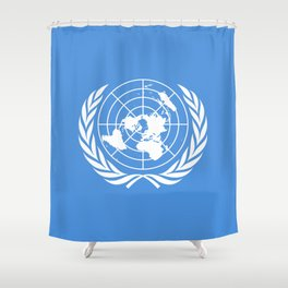 The United Nations Flag - Authentic Version Shower Curtain