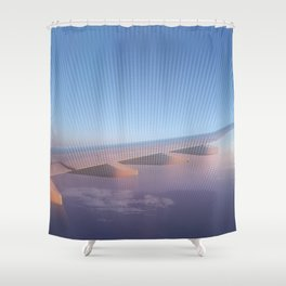 Flying High At Sunset Shower Curtain