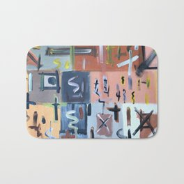 Colourful Chaos II Bath Mat