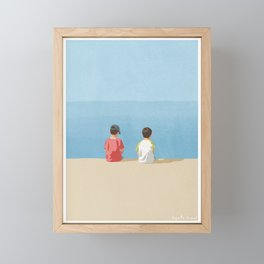 Visiting-The-Sea Framed Mini Art Print