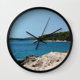 coastline bay at summer pula croatia istria Wall Clock