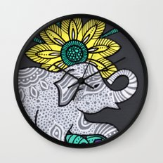 Zen Elephant Wall Clock