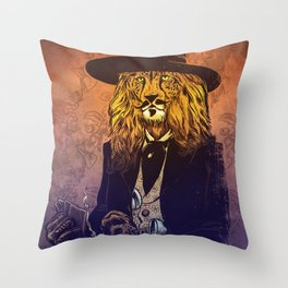 Low down, no good, Lion Cheetah Throw Pillow