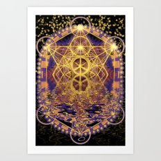 Geometry Peace Reflections Art Print