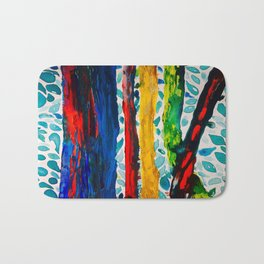 Rainbow Eucalyptus Graffiti Artist Tree naturally shedding bark from the South Pacific Bath Mat