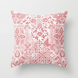 celtic coral Throw Pillow