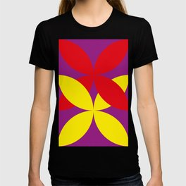 Two four-leaf clovers hugging in a beautiful deep purple space. How lucky! T-shirt