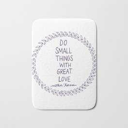 Do Small Things Bath Mat