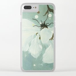 White flower 3 Clear iPhone Case