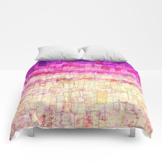 Pink Sea Mosaic Comforters