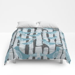 For the Birds and Birch Trees Comforters