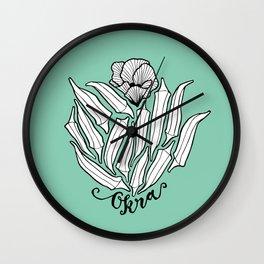 The Bloom of Okra Wall Clock