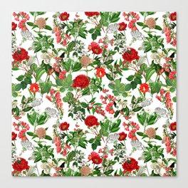 Seamles Botanical Pattern Canvas Print