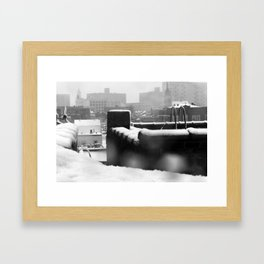 Snowy Escape Framed Art Print
