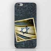 israel iPhone & iPod Skins featuring Israel grunge sticker flag by Lulla