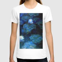 monet water lilies 1899 blue Teal T-shirt