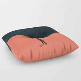 Night fills up the sky Floor Pillow