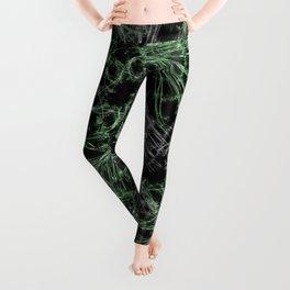 Green Magical Wisps Leggings