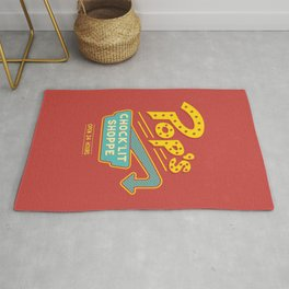 A place to ketchup... Rug