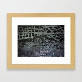 Patterned with Black Framed Art Print