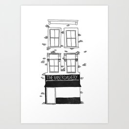 The Haberdashery Art Print