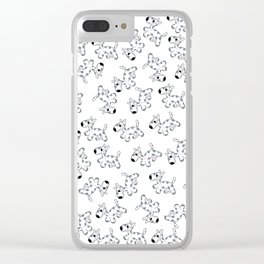 milk cow dog Clear iPhone Case