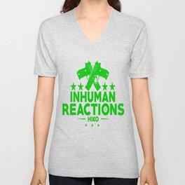 Inhuman Reactions Unisex V-Neck