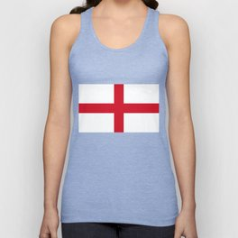 Flag of England (St. George's Cross) - Authentic version to scale and color Unisex Tank Top