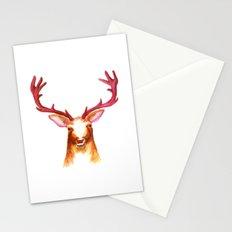 Deer Watercolor Print Stationery Cards