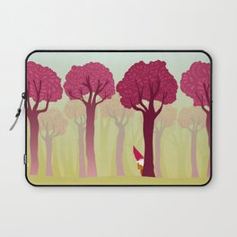 colorful forest with cute dwarf Laptop Sleeve