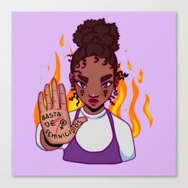 Basta de feminicidios Canvas Print