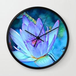 Lotus Heart Wall Clock