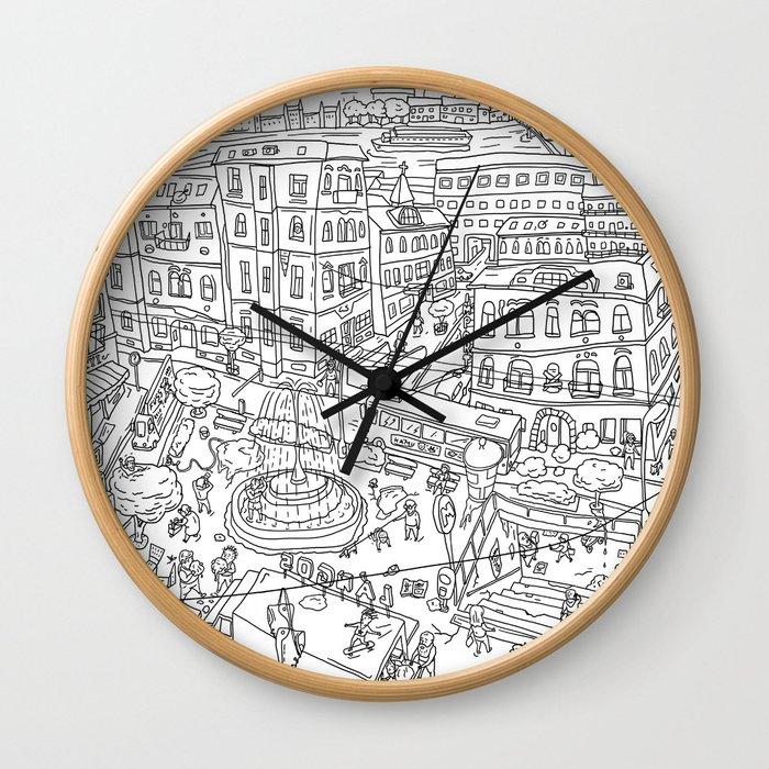 Budapest X Wall Clock