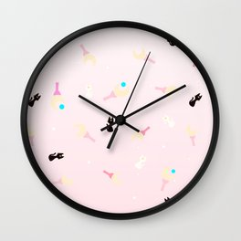 Wands and Cats Wall Clock