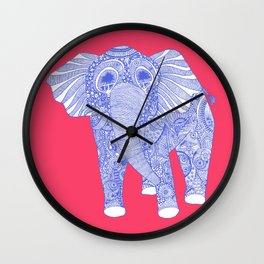 ornate Ellie in blue Wall Clock