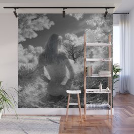 0250-GI BW Infrared Fine Art Nude Seeing Into Oneself Wall Mural