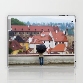 Man with Black Umbrella Laptop & iPad Skin