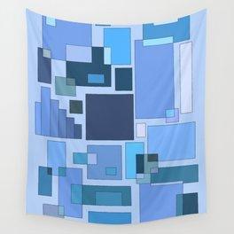 Blue Statistics Wall Tapestry