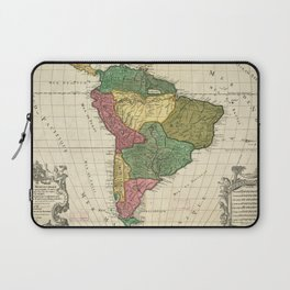 Vintage Map of South America (1691) Laptop Sleeve