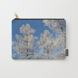 larch in snow, Siberia, Russia Carry-All Pouch