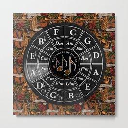 Circle of Fifths - Tattoo Jazz Music Metal Print